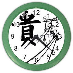 A Swordsman s Honor Wall Clock (color) by Viewtifuldrew