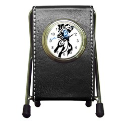 Alpha Dog Stationery Holder Clock by Viewtifuldrew