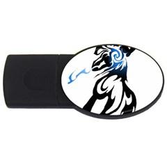 Alpha Dog 4gb Usb Flash Drive (oval) by Viewtifuldrew