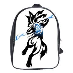 Alpha Dog School Bag (large) by Viewtifuldrew