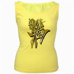 The Flying Dragon Women s Tank Top (Yellow) by Viewtifuldrew
