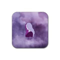 Profile Of Pain Drink Coaster (square) by FunWithFibro