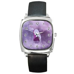 Profile Of Pain Square Leather Watch by FunWithFibro