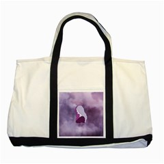 Profile Of Pain Two Toned Tote Bag by FunWithFibro