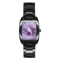 Profile Of Pain Stainless Steel Barrel Watch by FunWithFibro
