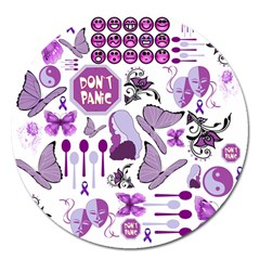 Fms Mash Up Magnet 5  (round) by FunWithFibro