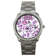 Fms Mash Up Sport Metal Watch by FunWithFibro