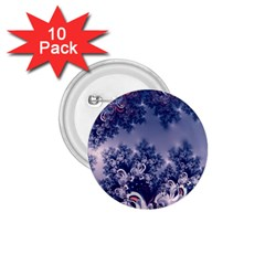 Pink And Blue Morning Frost Fractal 1 75  Button (10 Pack) by Artist4God