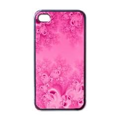 Soft Pink Frost Of Morning Fractal Apple Iphone 4 Case (black) by Artist4God
