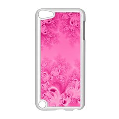Soft Pink Frost Of Morning Fractal Apple Ipod Touch 5 Case (white) by Artist4God