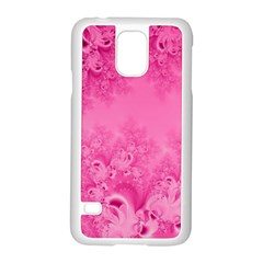 Soft Pink Frost Of Morning Fractal Samsung Galaxy S5 Case (white) by Artist4God