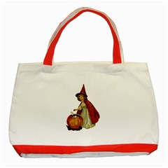 Vintage Halloween Child Classic Tote Bag (Red) by EndlessVintage
