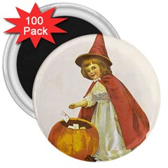 Vintage Halloween Child 3  Button Magnet (100 pack) by EndlessVintage