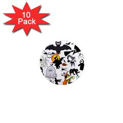 Halloween Mashup 1  Mini Button Magnet (10 Pack) by StuffOrSomething