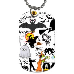 Halloween Mashup Dog Tag (two Sided)  by StuffOrSomething