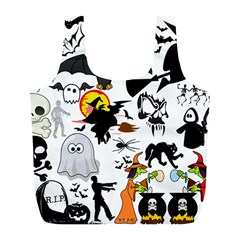 Halloween Mashup Reusable Bag (l) by StuffOrSomething