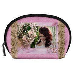 Pink Treasure Accessory Pouch (large) By Deborah   Accessory Pouch (large)   J9xzfc2vxhhm   Www Artscow Com Front