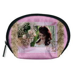 Pink Treasure Accessory Pouch (medium) By Deborah   Accessory Pouch (medium)   4rbtgpjyjlhf   Www Artscow Com Front
