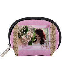Pink Treasure Accessory Pouch (small) By Deborah   Accessory Pouch (small)   6xqphqqyw3gc   Www Artscow Com Front