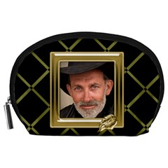 Black And Gold Accessorypouch (large) By Deborah   Accessory Pouch (large)   Mhpynkkm9a0c   Www Artscow Com Front