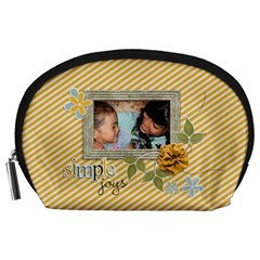 Pouch (l) : Simple Joys By Jennyl   Accessory Pouch (large)   Oc9sc6mj3xk5   Www Artscow Com Front
