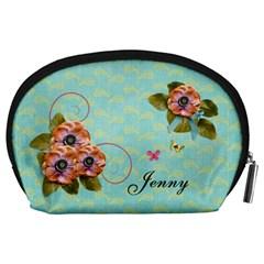 Pouch (l) : Flowers By Jennyl   Accessory Pouch (large)   Qj9dpu56kfya   Www Artscow Com Back