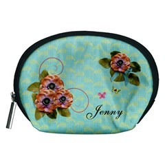 Pouch (m): Flowers By Jennyl   Accessory Pouch (medium)   Dlyjt2gb3c4m   Www Artscow Com Front
