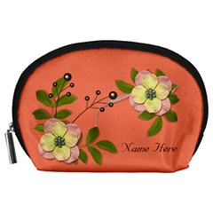 Pouch (l) : Big Flowers By Jennyl   Accessory Pouch (large)   Mjkzt15s18j0   Www Artscow Com Front