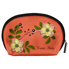 Pouch (l) : Big Flowers By Jennyl   Accessory Pouch (large)   Mjkzt15s18j0   Www Artscow Com Back