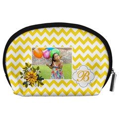 Pouch (l) : Yellow Chevron By Jennyl   Accessory Pouch (large)   Xhl1mz7lcsqc   Www Artscow Com Back