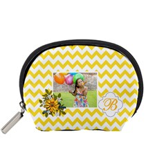 Pouch (s): Yellow Chevron By Jennyl   Accessory Pouch (small)   Nrcd06ll642d   Www Artscow Com Front