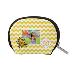 Pouch (s): Yellow Chevron By Jennyl   Accessory Pouch (small)   Nrcd06ll642d   Www Artscow Com Back