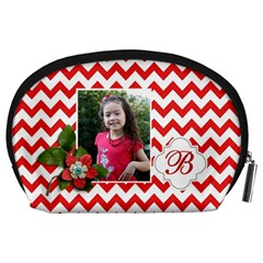 Pouch (l) : Red Chevron By Jennyl   Accessory Pouch (large)   Gzb9m21205ha   Www Artscow Com Back