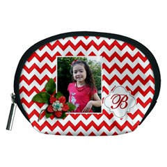 Pouch (m): Red Chevron By Jennyl   Accessory Pouch (medium)   Qe56ba090b9e   Www Artscow Com Front