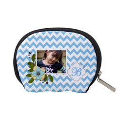 Pouch (s): Blue Chevron By Jennyl   Accessory Pouch (small)   Ld3lmd4ggmwn   Www Artscow Com Back