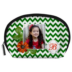 Pouch (l) : Green Chevron By Jennyl   Accessory Pouch (large)   Ncuf9tk7pppw   Www Artscow Com Front