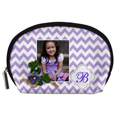 Pouch (l) : Violet Chevron By Jennyl   Accessory Pouch (large)   3lb12ph0xnmz   Www Artscow Com Front