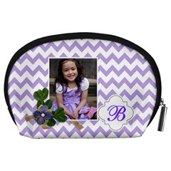 Pouch (l) : Violet Chevron By Jennyl   Accessory Pouch (large)   3lb12ph0xnmz   Www Artscow Com Back