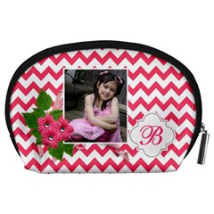 Pouch (l) : Pink Chevron By Jennyl   Accessory Pouch (large)   Avoov2748xeq   Www Artscow Com Back