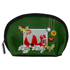 Pouch (l) : Happy Holidays By Jennyl   Accessory Pouch (large)   Dn3euzoj3w90   Www Artscow Com Front