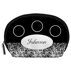 Classic Black And White Accessory Pouch (large) By Deborah   Accessory Pouch (large)   Xghfiglmf4n7   Www Artscow Com Front