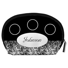 Classic Black And White Accessory Pouch (large) By Deborah   Accessory Pouch (large)   Xghfiglmf4n7   Www Artscow Com Back