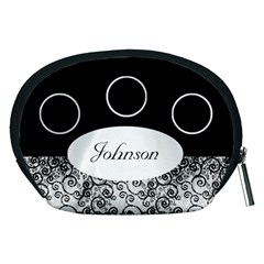 Classic Black And White Accessory Pouch (medium) By Deborah   Accessory Pouch (medium)   Q8ql4qnga1ja   Www Artscow Com Back