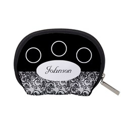 Classic Black And White Accessory Pouch (small) By Deborah   Accessory Pouch (small)   Dklshdy03gdw   Www Artscow Com Back