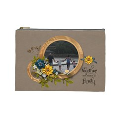 Cosmetic Bag (large)   Together By Jennyl   Cosmetic Bag (large)   4ku8yc8f9l0m   Www Artscow Com Front