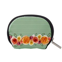 Dots And Flowers Pouch S By Zornitza   Accessory Pouch (small)   Cs7etcdj8u9k   Www Artscow Com Back