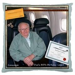 Concorde Cushion By Catvinnat   Large Cushion Case (two Sides)   4d1og6j5mpr8   Www Artscow Com Back