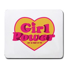 Girl Power Heart Shaped Typographic Design Quote Large Mouse Pad (rectangle) by dflcprints