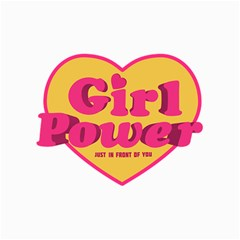 Girl Power Heart Shaped Typographic Design Quote Canvas 12  X 16  (unframed) by dflcprints