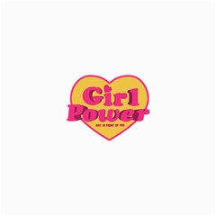 Girl Power Heart Shaped Typographic Design Quote Canvas 36  X 48  (unframed) by dflcprints